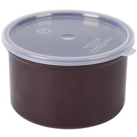 Carlisle 031601 1.5 Qt. Brown Classic Crock with Lid - 6 / Case