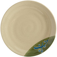 GET 207-70-TD Japanese Traditional 7 inch Plate with Swirl Texture - 12/Case