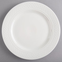 Homer Laughlin by Steelite International HL8766900 Kensington Ameriwhite 8 1/8 inch Bright White China Plate - 36/Case