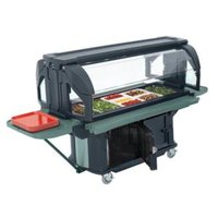 Cambro VBRUHD6186 Navy Blue 6' Versa Ultra Food / Salad Bar with Storage and Heavy-Duty Casters