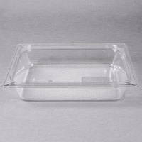 Carlisle 10220B07 StorPlus 1/2 Size Clear Food Pan - 2 1/2 inch Deep