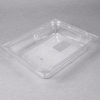 Carlisle 10220B07 StorPlus 1/2 Size Clear Polycarbonate Food Pan - 2 1/2 inch Deep