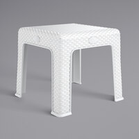 Lancaster Table & Seating 19 5/16 inch Square White Side Table