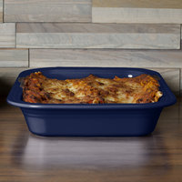 Homer Laughlin 963105 Fiesta Cobalt Blue 9 inch x 13 inch Rectangular Baker - 2/Case