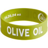 Choice Olive Oil Silicone Squeeze Bottle Label Band for 16, 20, and 24 oz. Standard & Wide Mouth Bottles