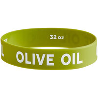 Choice Olive Oil Silicone Squeeze Bottle Label Band for 32 oz. Standard & Wide Mouth Bottles