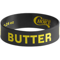 Choice Butter Silicone Squeeze Bottle Label Band for 16, 20, and 24 oz. Standard & Wide Mouth Bottles