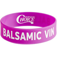Choice Balsamic Vinegar Silicone Squeeze Bottle Label Band for 16, 20, and 24 oz. Standard & Wide Mouth Bottles