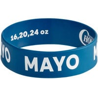 Choice Mayo Silicone Squeeze Bottle Label Band for 16, 20, and 24 oz. Standard & Wide Mouth Bottles
