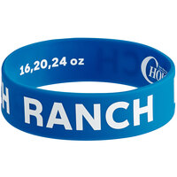 Choice Ranch Silicone Squeeze Bottle Label Band for 16, 20, and 24 oz. Standard & Wide Mouth Bottles
