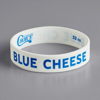 Choice Blue Cheese Silicone Squeeze Bottle Label Band for 32 oz. Standard & Wide Mouth Bottles