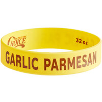 Choice Garlic Parmesan Silicone Squeeze Bottle Label Band for 32 oz. Standard & Wide Mouth Bottles
