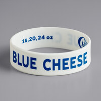 Choice Blue Cheese Silicone Squeeze Bottle Label Band for 16, 20, and 24 oz. Standard & Wide Mouth Bottles