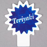 Deli Tag Topper - TERIYAKI - Ocean Blue