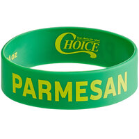 Choice Parmesan Silicone Squeeze Bottle Label Band for 16, 20, and 24 oz. Standard & Wide Mouth Bottles