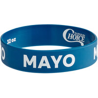 Choice Mayo Silicone Squeeze Bottle Label Band for 32 oz. Standard & Wide Mouth Bottles