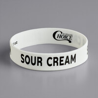 Choice Sour Cream Silicone Squeeze Bottle Label Band for 32 oz. Standard & Wide Mouth Bottles