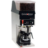 Grindmaster GNB11H 5.5 lb. Single Hopper 64 oz. Decanter Grind'n Brew Coffee Grinder and Automatic Brewer - 120V