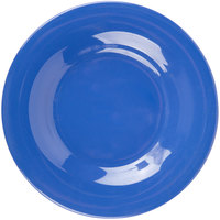 Carlisle 3302014 Sierrus 5 1/2 inch Ocean Blue Wide Rim Melamine Bread and Butter Plate - 48/Case