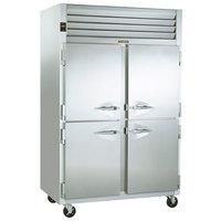 Traulsen G22000 2 Section Half Door Reach In Freezer - Left / Right Hinged Doors - 46 cu. ft.