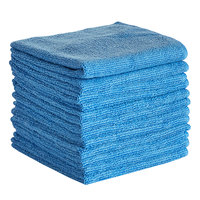 Knuckle Buster MFMP12BL 12 inch x 12 inch Blue Microfiber Cleaning Cloth - 12/Pack