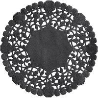6 inch Black Foil Lace Doily - 1000/Case