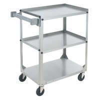Vollrath 97326 Knocked Down Stainless Steel 3 Shelf Utility Cart - 30 7/8 inch x 17 3/4 inch x 33 3/4 inch