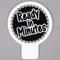 Deli Tag Topper - READY IN MINUTES - Black