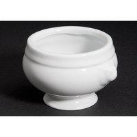 CAC LN-3-P 3 oz. Bright White Porcelain Lion Head Bouillon - 48/Case