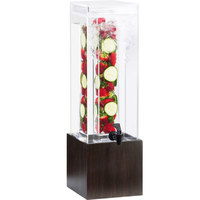 Cal-Mil 1527-1INF-96 1.5 Gallon Midnight Bamboo Infusion Beverage Dispenser - 8 1/4 inch x 9 3/4 inch x 17 3/4 inch