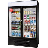 Beverage Air LV49-1-B-LED Black LumaVue 52 inch Refrigerated Glass Door Merchandiser with LED Lighting- 49 Cu. Ft.