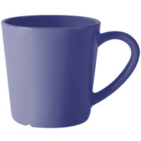 GET C-107-PB Diamond Mardi Gras 8 oz. Peacock Blue Melamine Mug   - 24/Case