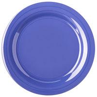 Carlisle 4300214 Durus 10 1/2 inch Ocean Blue Narrow Rim Melamine Plate - 12/Case