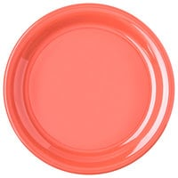 Carlisle 4300452 Durus 9 inch Sunset Orange Narrow Rim Melamine Plate - 24/Case
