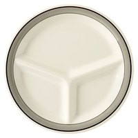 GET CP-10-CA 10 1/4 inch Diamond Cambridge 3-Compartment Plate - 12/Case