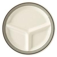 GET CP-10-CA 10 1/4 inch Diamond Cambridge 3-Compartment Plate - 12/Case