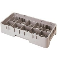 Cambro 10HS1114184 Beige Camrack 10 Compartment 11 3/4 inch Half Size Glass Rack