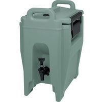 Cambro UC250401 Ultra Camtainer 2.75 Gallon Slate Blue Insulated Beverage Dispenser