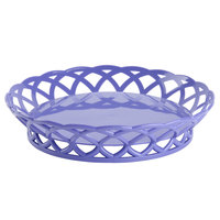 GET RB-860-PB Peacock Blue Round 10 1/2 inch Plastic Fast Food Basket 12 / Pack