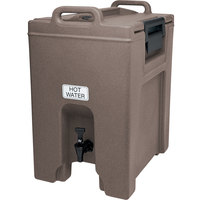 Cambro UC1000194 Ultra Camtainer 10.5 Gallon Granite Sand Insulated Beverage Dispenser