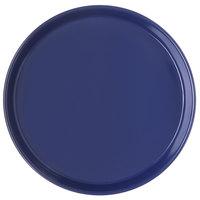 Carlisle 130060 13 inch Cobalt Blue Round Melamine Serving Tray - 12/Case