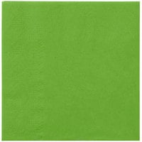 Hoffmaster 180361 Fresh Lime Green Beverage / Cocktail Napkin - 1000/Case