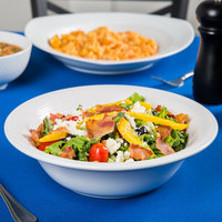 Tuxton BWB-4805 Concentrix 48 oz. White China Pasta / Salad Bowl - 12/Case