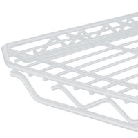 Metro 1848QW qwikSLOT White Wire Shelf - 18 inch x 48 inch