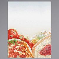 8 1/2 inch x 11 inch Menu Paper - Italian Themed Pasta Design Cover - 100/Pack