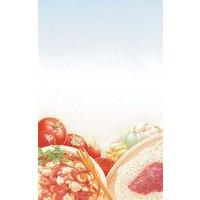 8 1/2 inch x 11 inch Menu Paper - Italian Themed Pasta Design Cover - 100/Pack