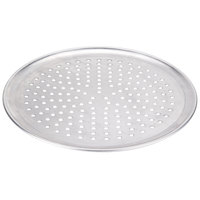 American Metalcraft PHACTP14 14 inch Perforated Heavy Weight Aluminum Coupe Pizza Pan