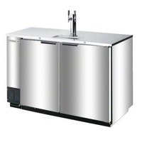 Beverage-Air DD78R-1-S (2) Double Tap Kegerator Beer Dispenser, Remote Condenser - Stainless Steel, (4) 1/2 Keg Capacity