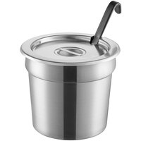 Vollrath 7.25 Qt. Stainless Steel Inset Kit with Cover and Jacob's Pride 4 oz. Ladle