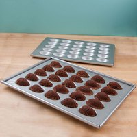 Chicago Metallic 47255 Glazed Aluminized Steel 25 Mold Mini Easter Egg / Football Elliptical Cake Pan Set